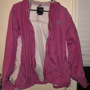 North Face Pink Hooded Rain Jacket